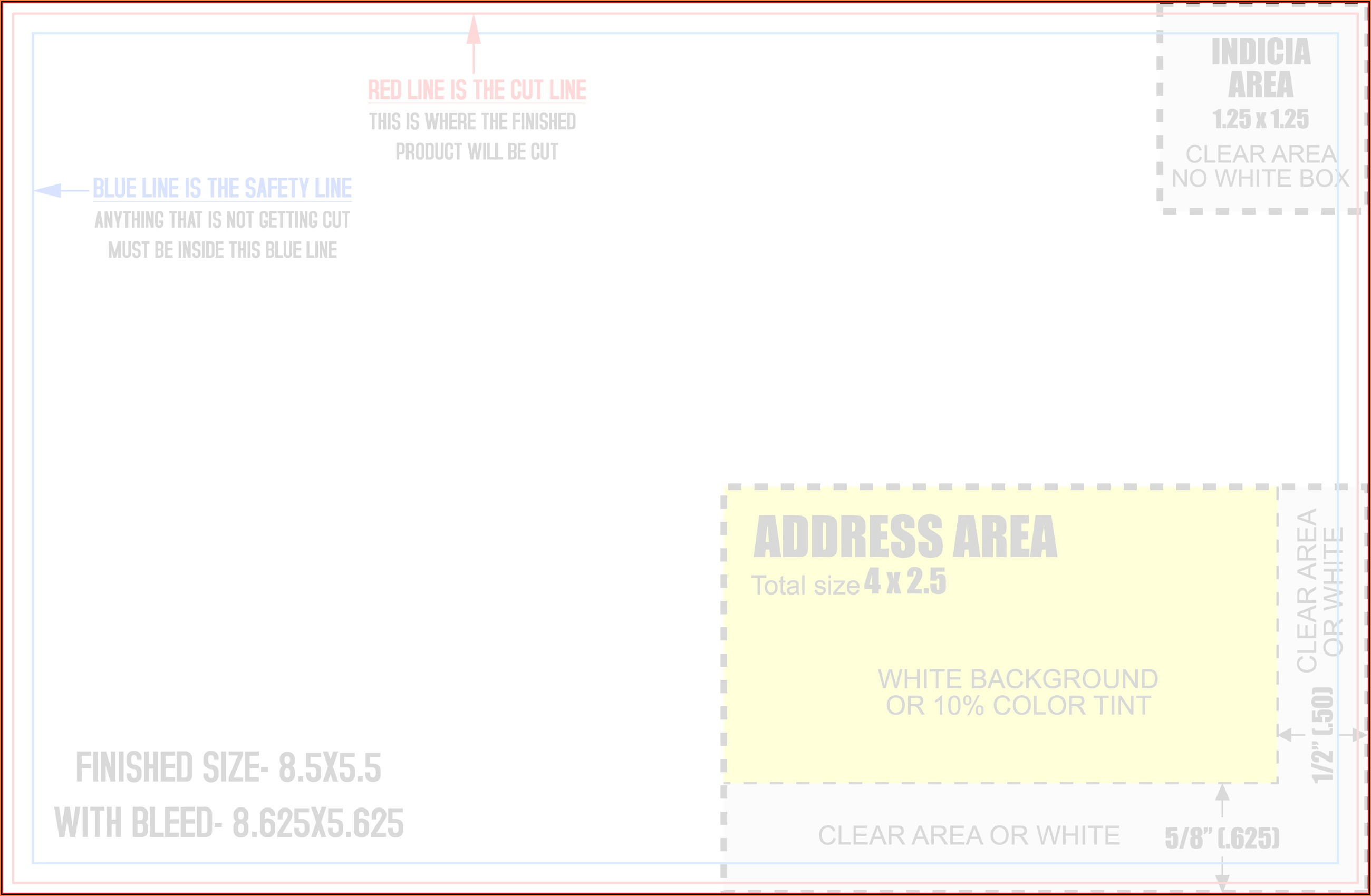 8.5 X 5.5 Postcard Template Word
