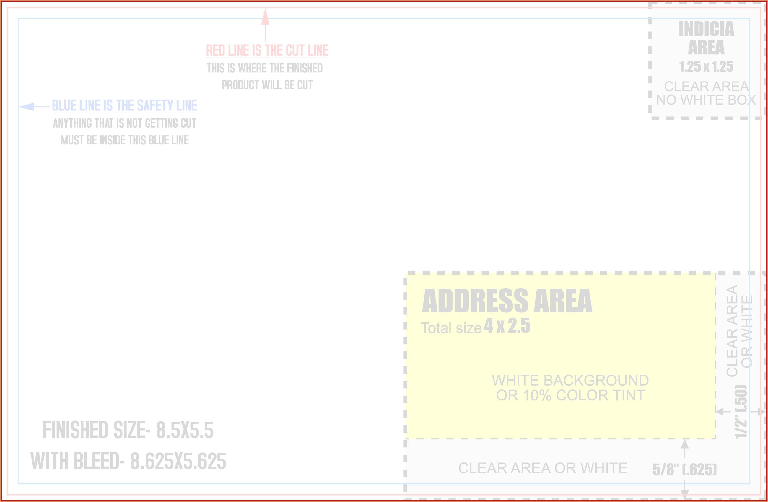 8.5 X 5.5 Postcard Template Word