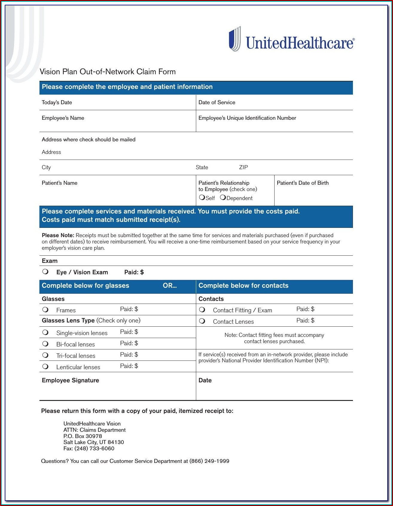 Aarp Supplemental Insurance Claim Form