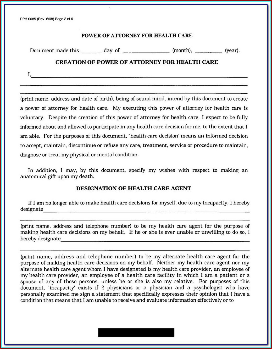 Advance Healthcare Directive California Fillable Form