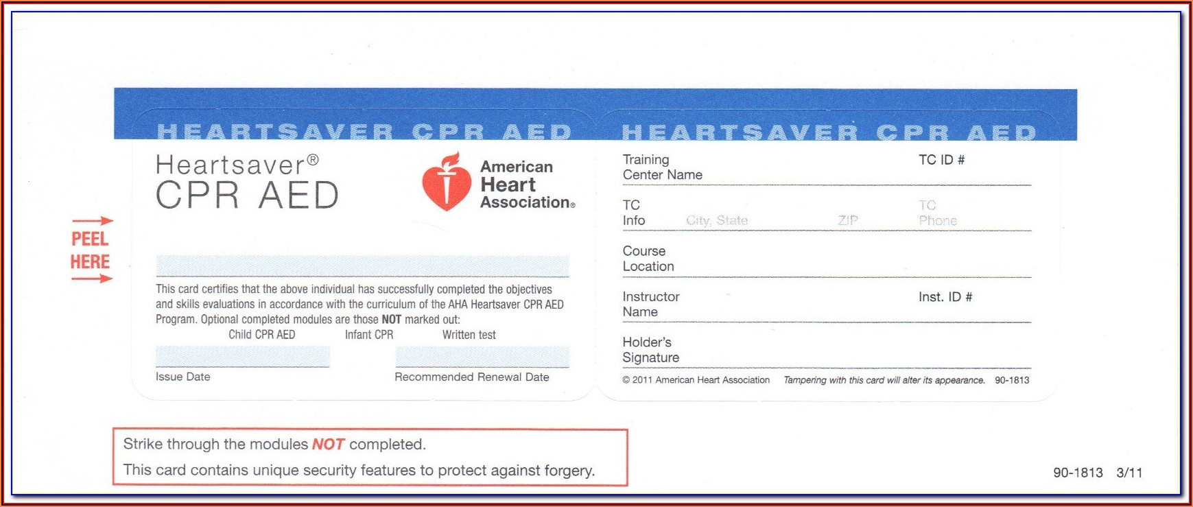 Aha Cpr Card Template