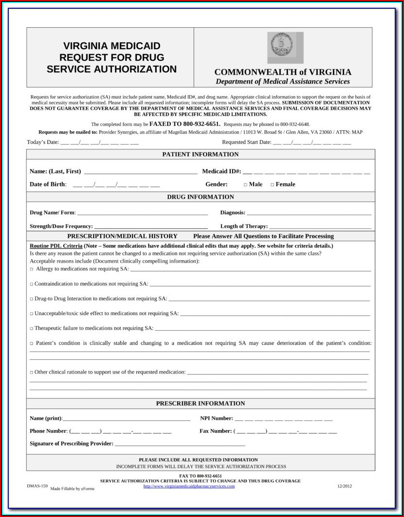 Amerigroup Medicare Advantage Prior Authorization Forms