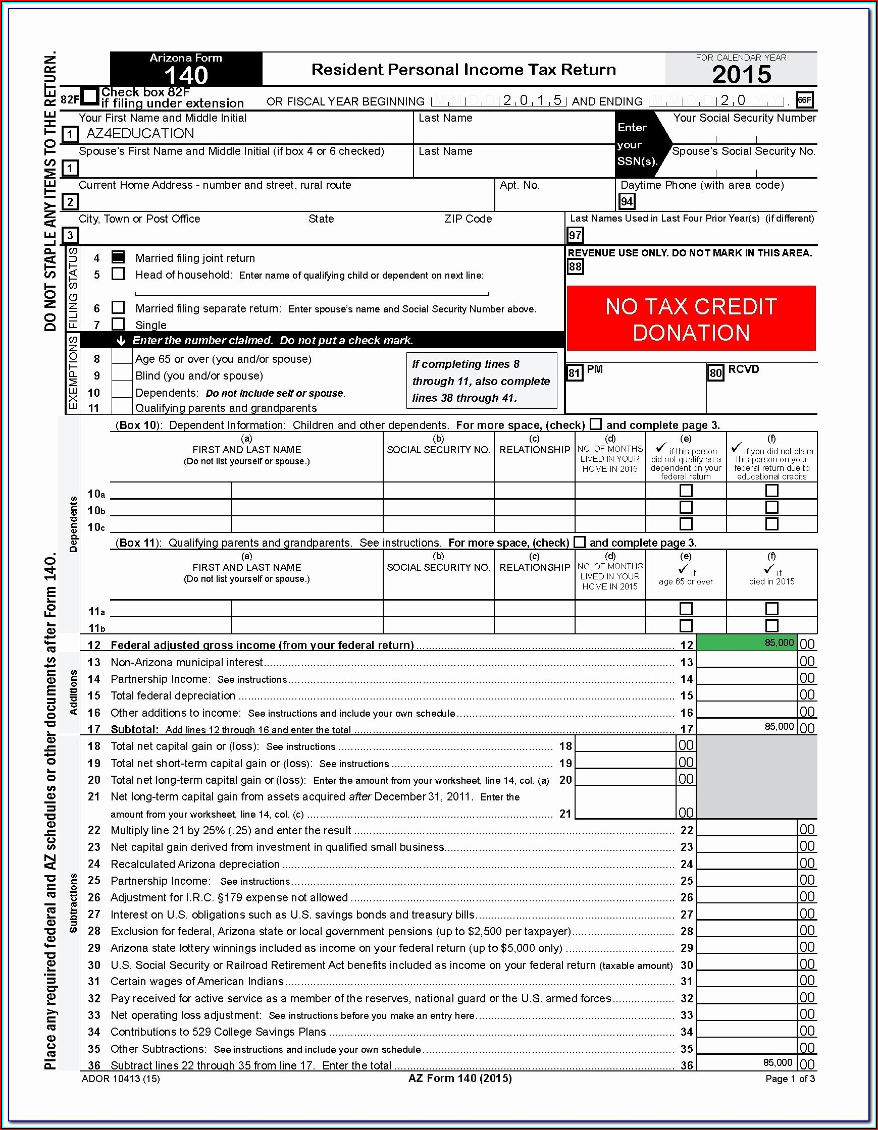 Arizona Llc Tax Forms