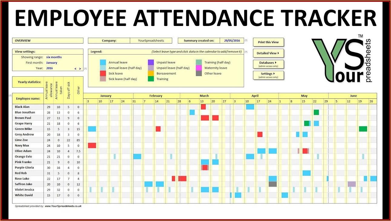 Attendance Tracker Template For Mac