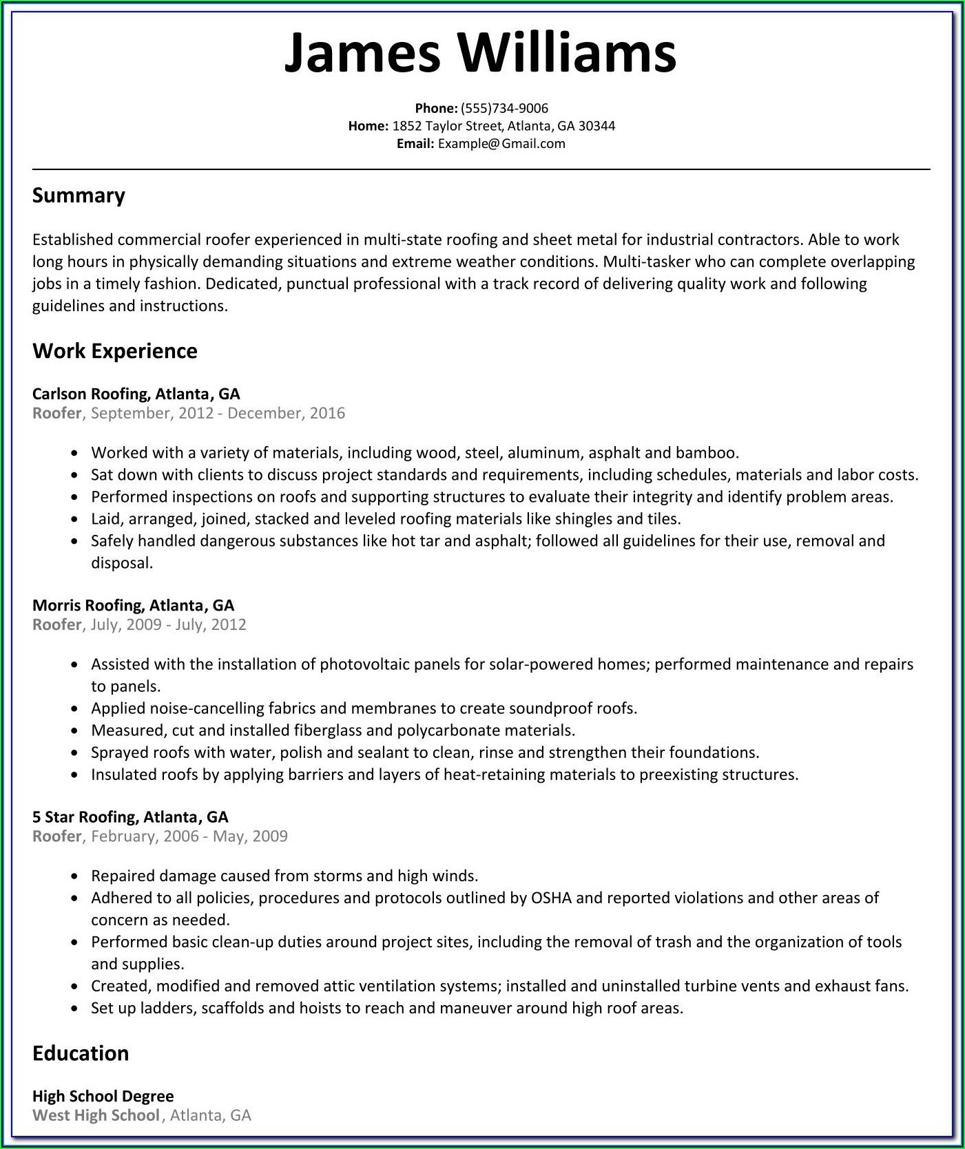 Australian Resume Creator