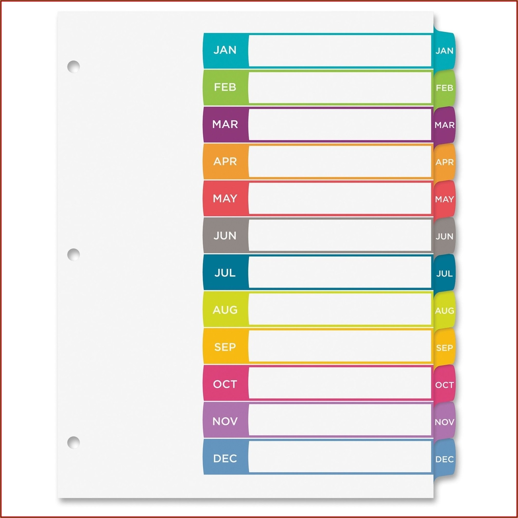 Avery Ready Index Template 31 Tab
