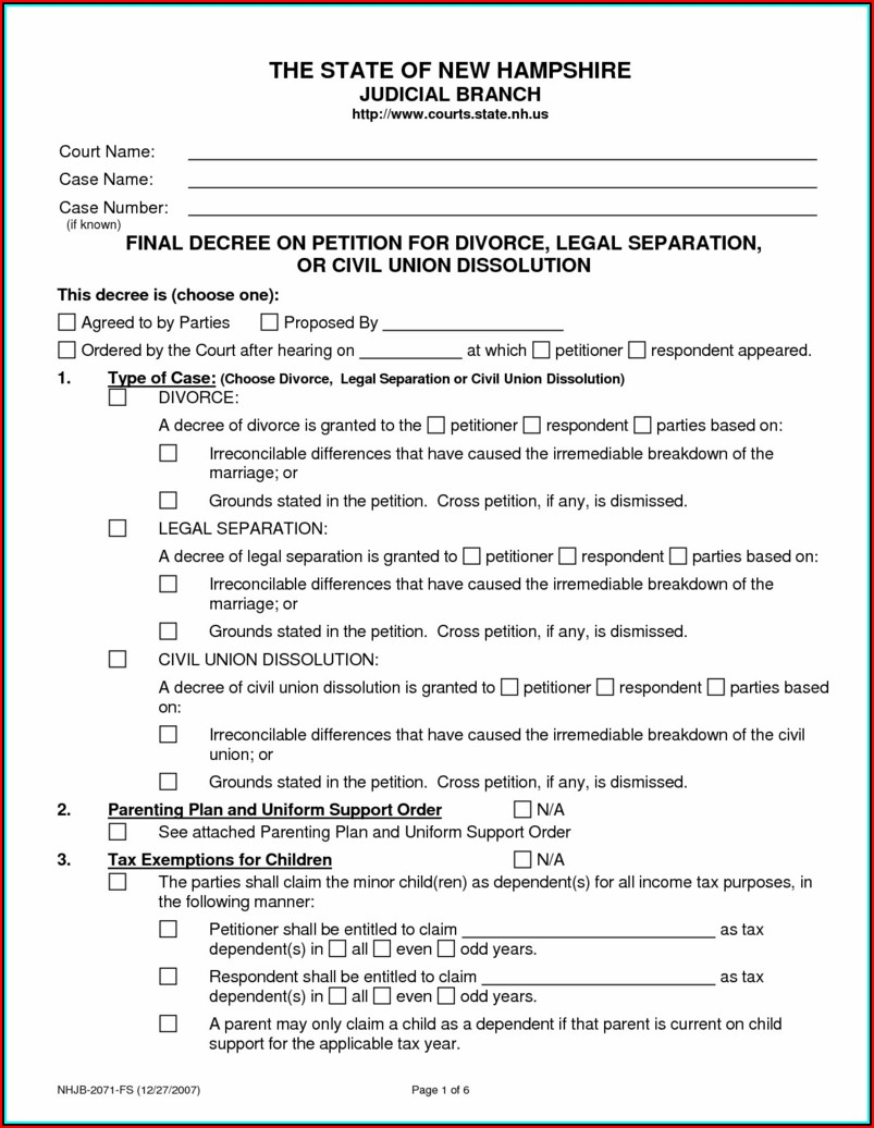 Az Court Divorce Forms