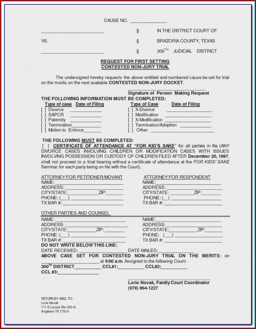 Az Divorce Paperwork