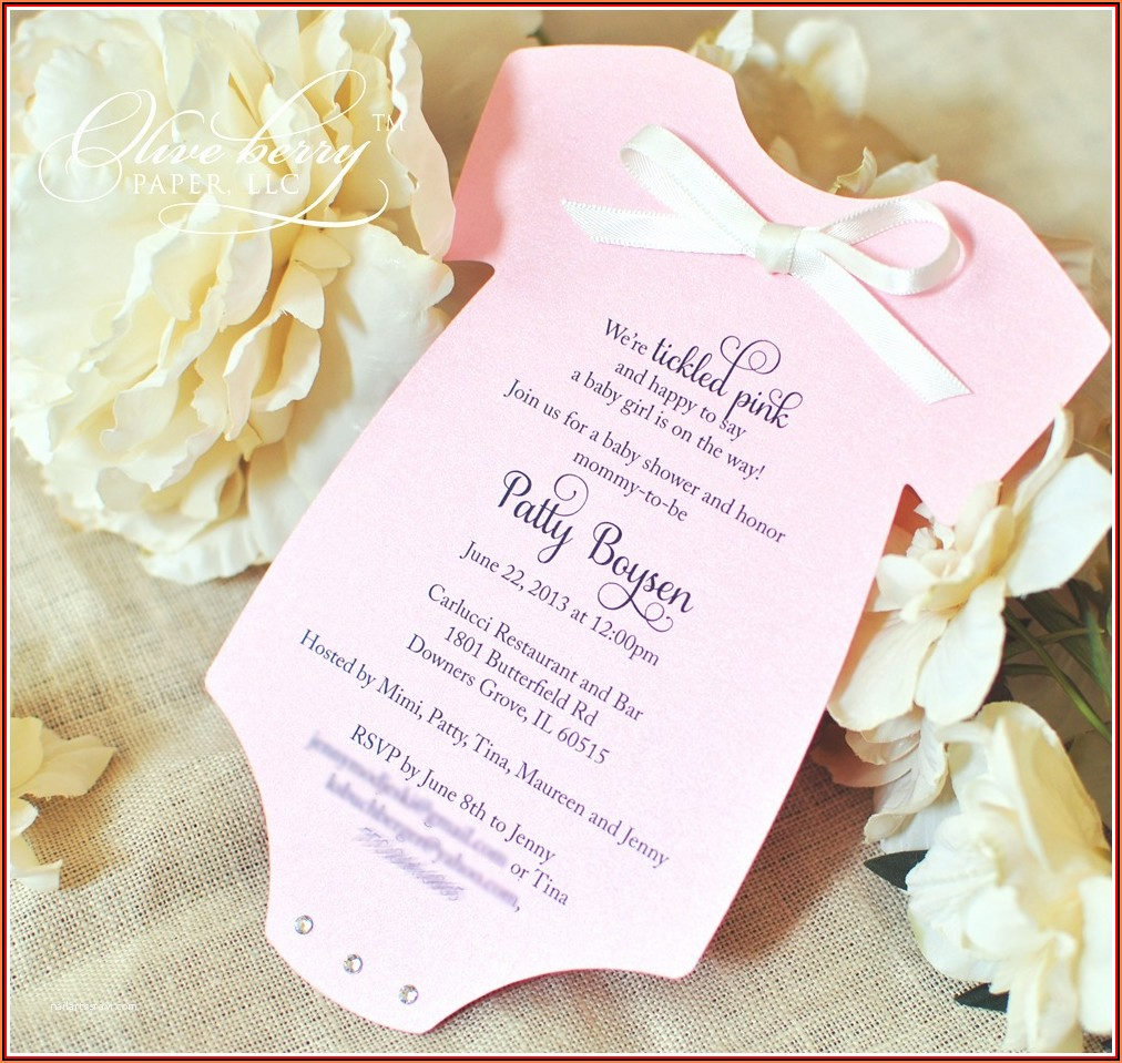 Baby Onesie Invitation Template