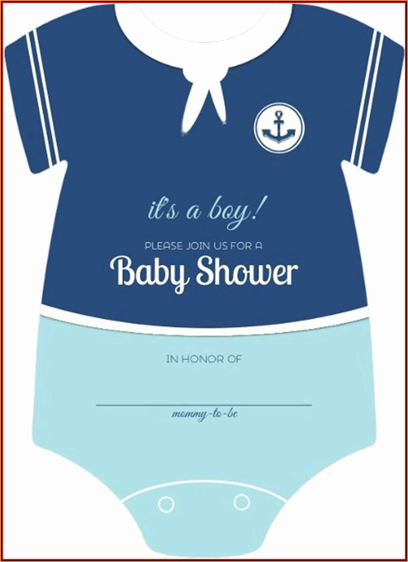Baby Shower Onesie Invitation Template