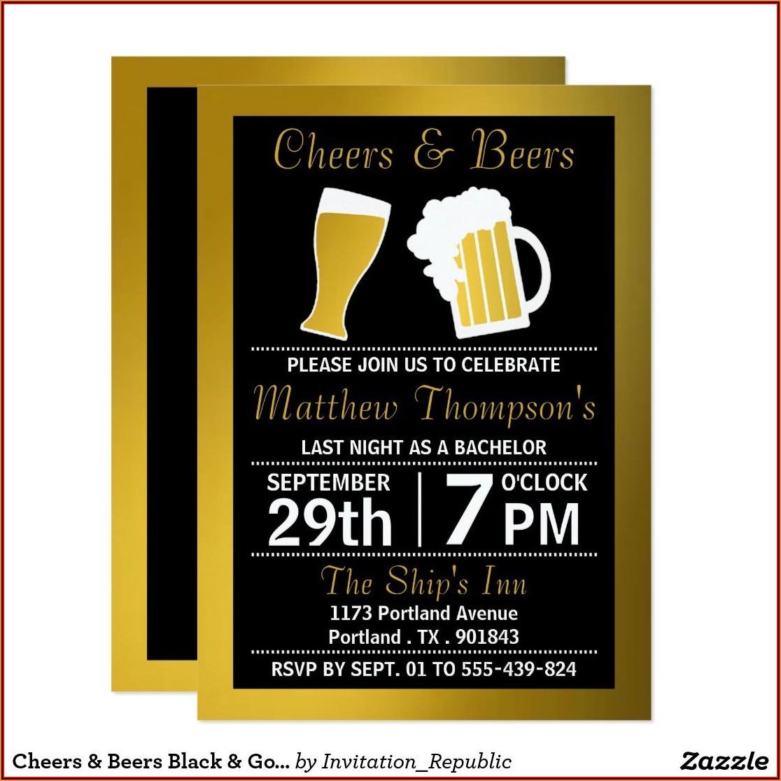 Bachelor Party Invitation Card Design