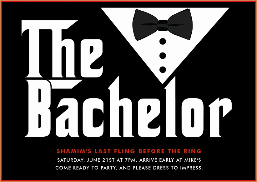 Bachelor Party Invitation Email Template