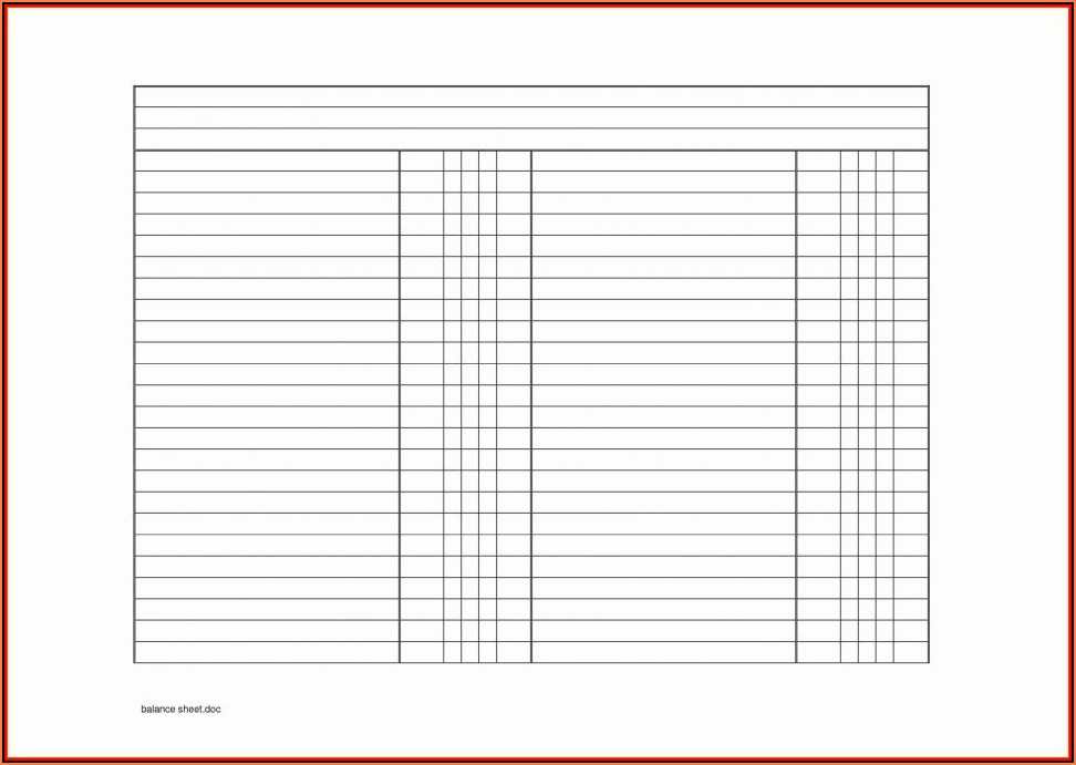 Balance Sheet Account Reconciliation Template Excel