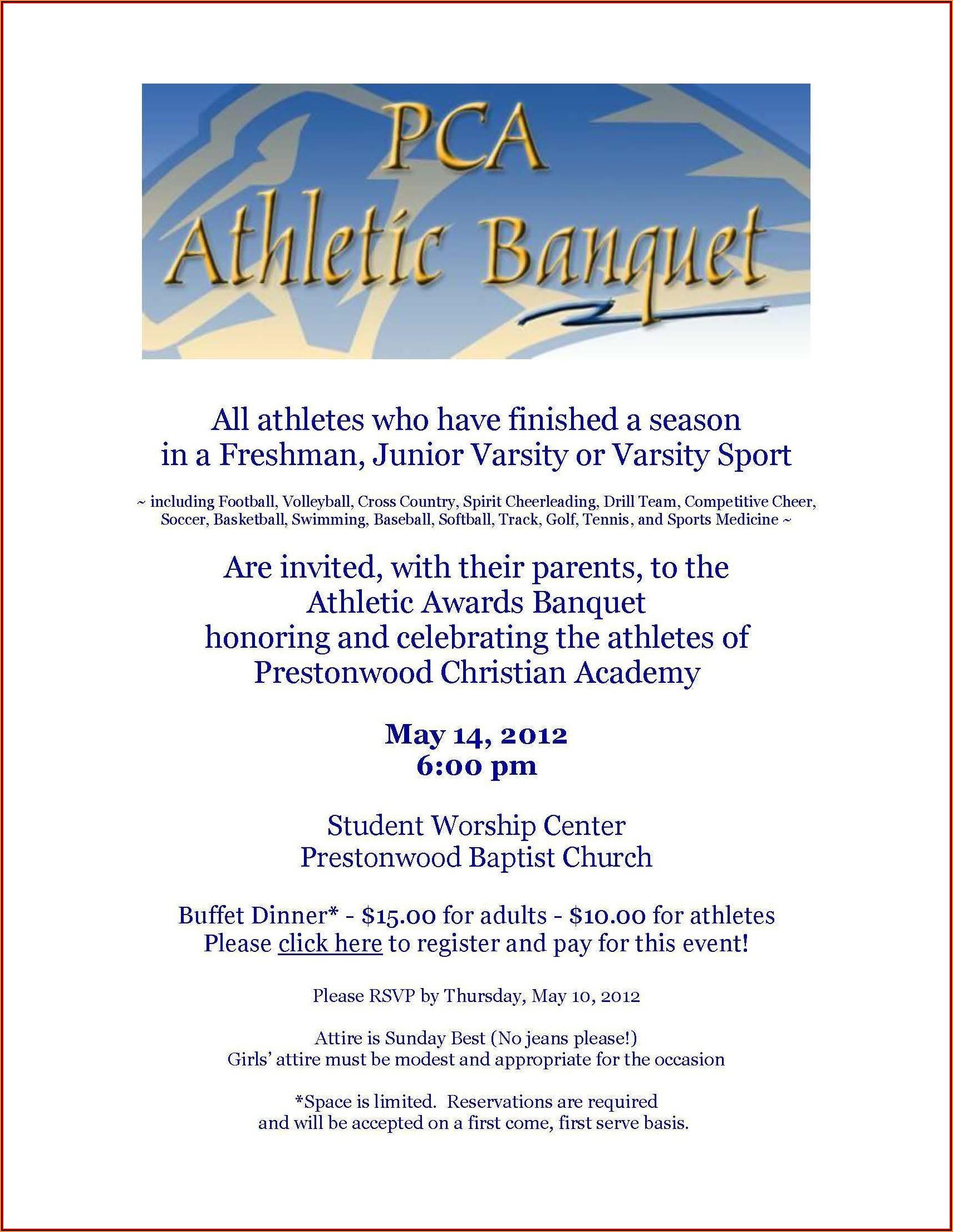 Basketball Banquet Invitation Template