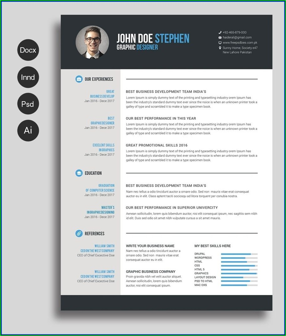 Best Free Resume Template Word