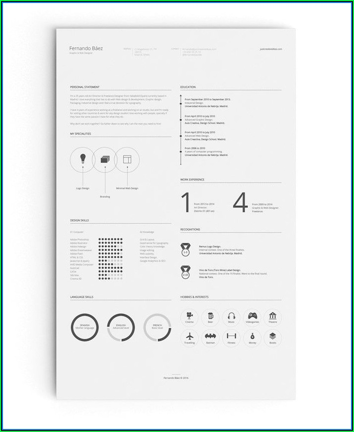 Best Resume Template 2018 Free Download