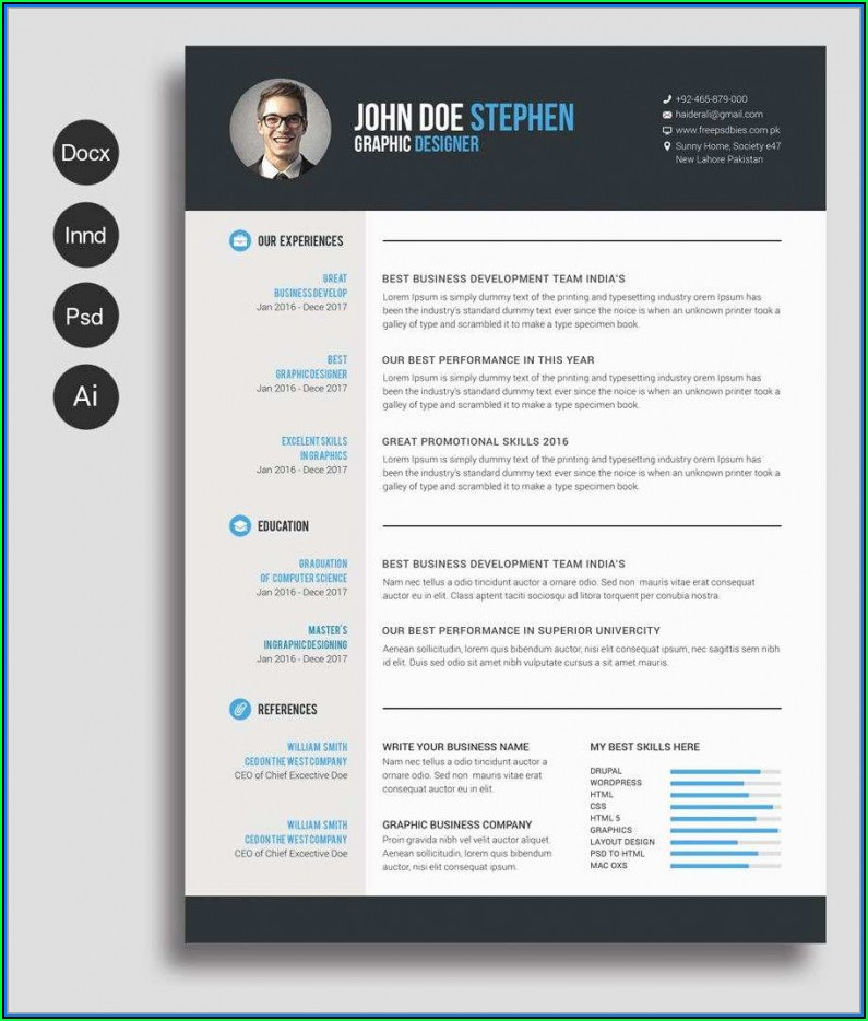 Best Resume Template Download Free