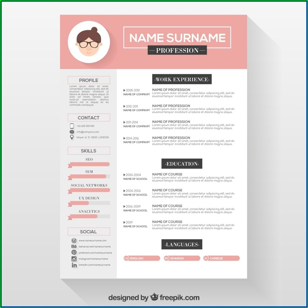 Best Resume Template Free Download Word