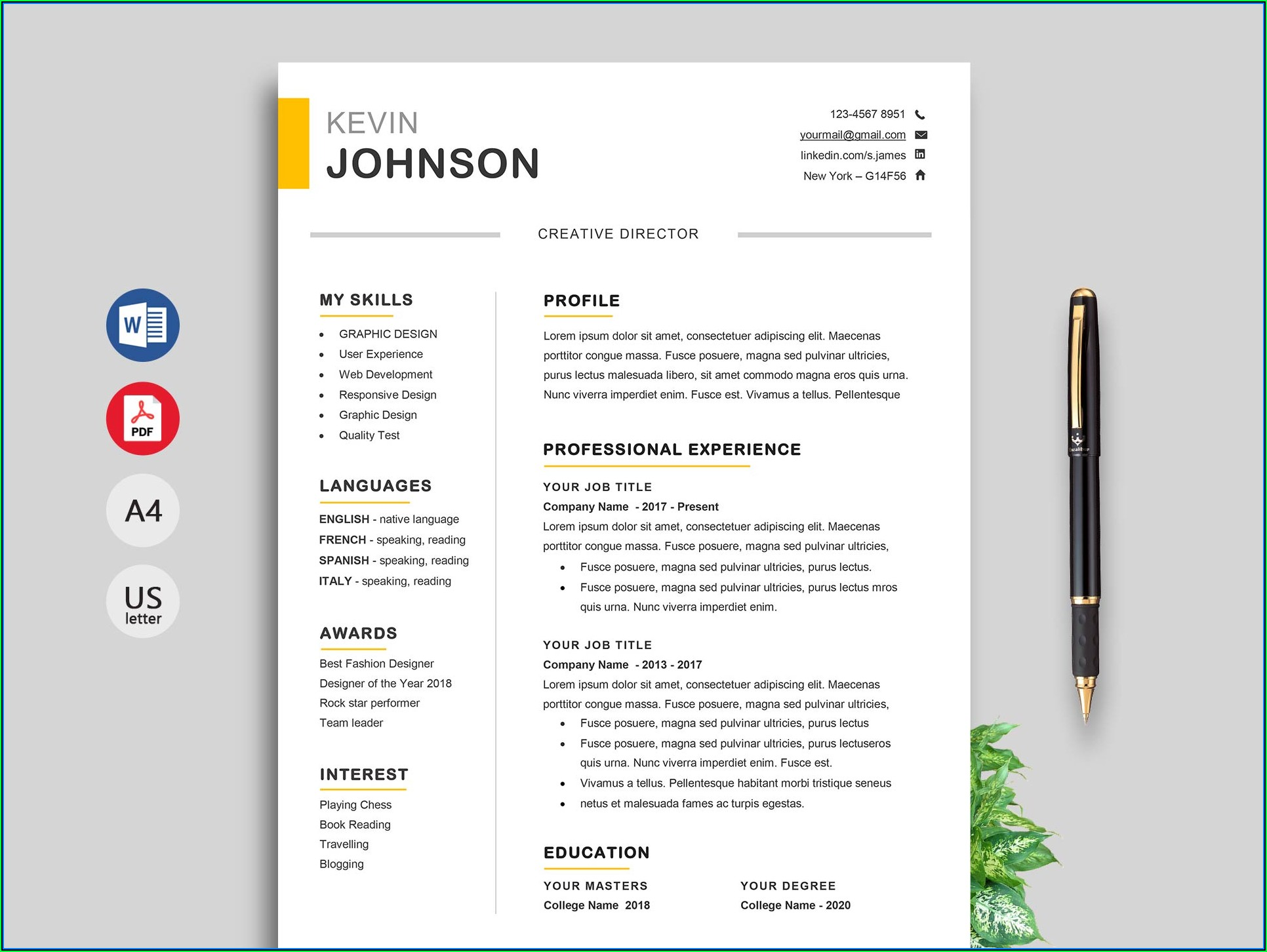 Best Resume Templates Download Free