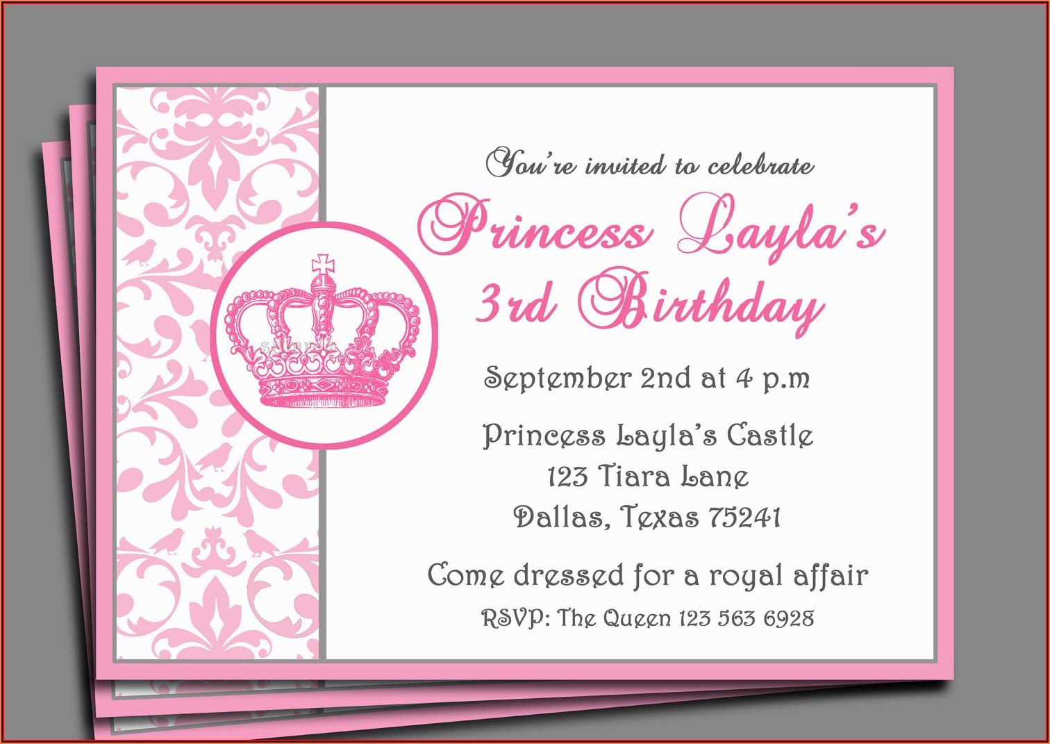 Birthday Party Invitations Templates Word