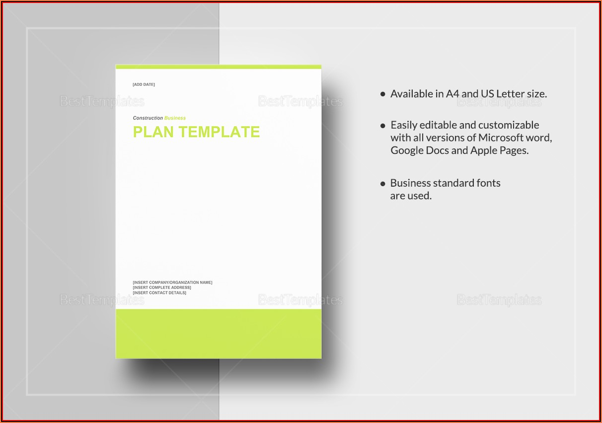 Blank Business Plan Template Word South Africa