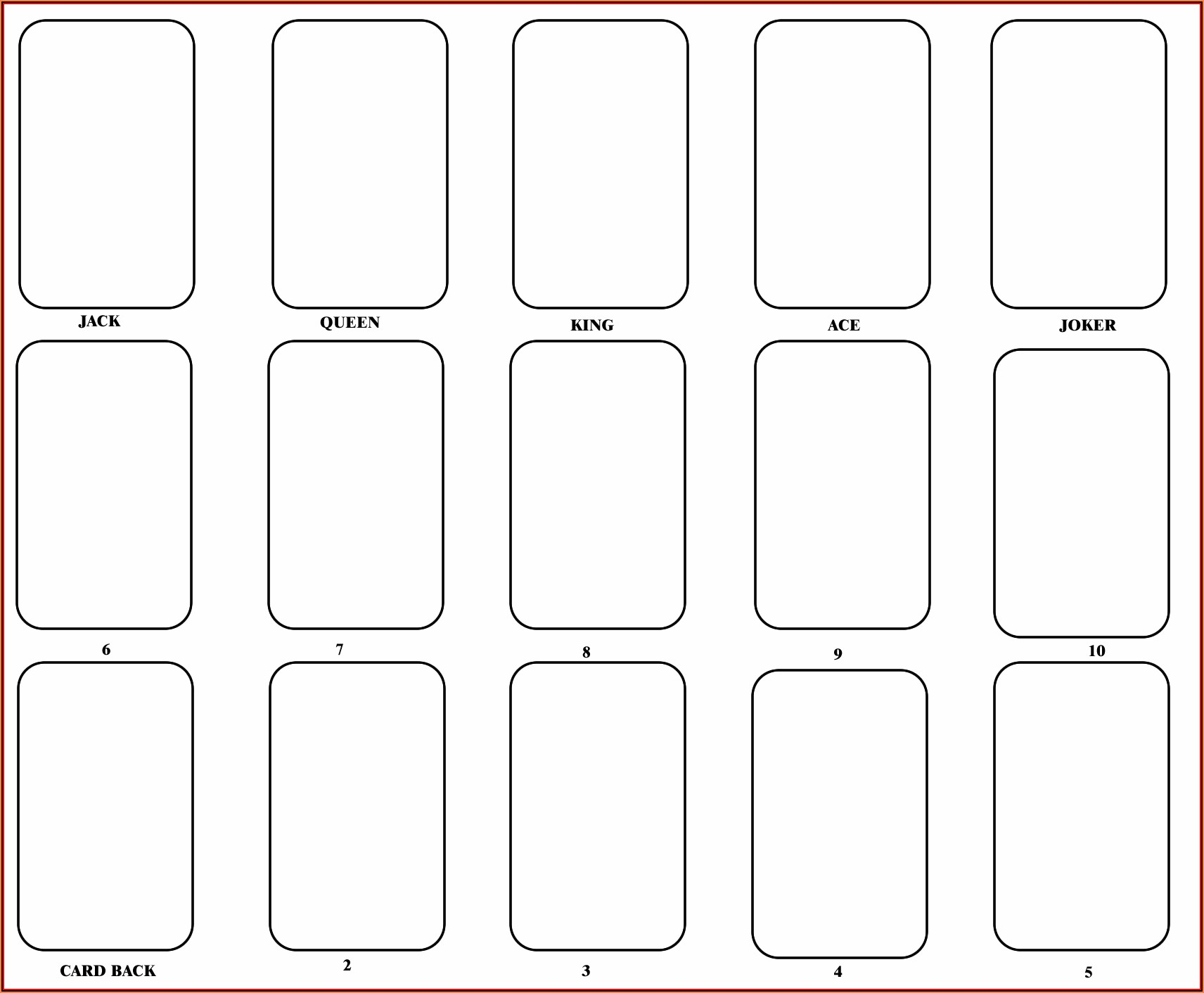 Blank Flash Card Template