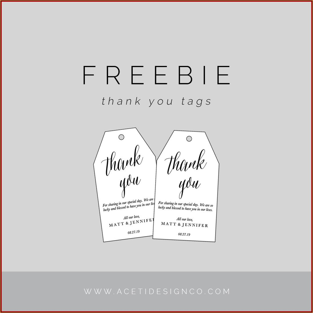Blank Gift Tag Template Editable Free