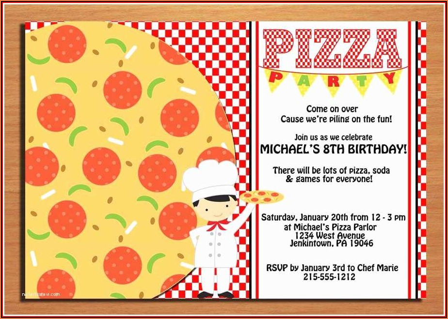 Blank Pizza Party Invitation Template