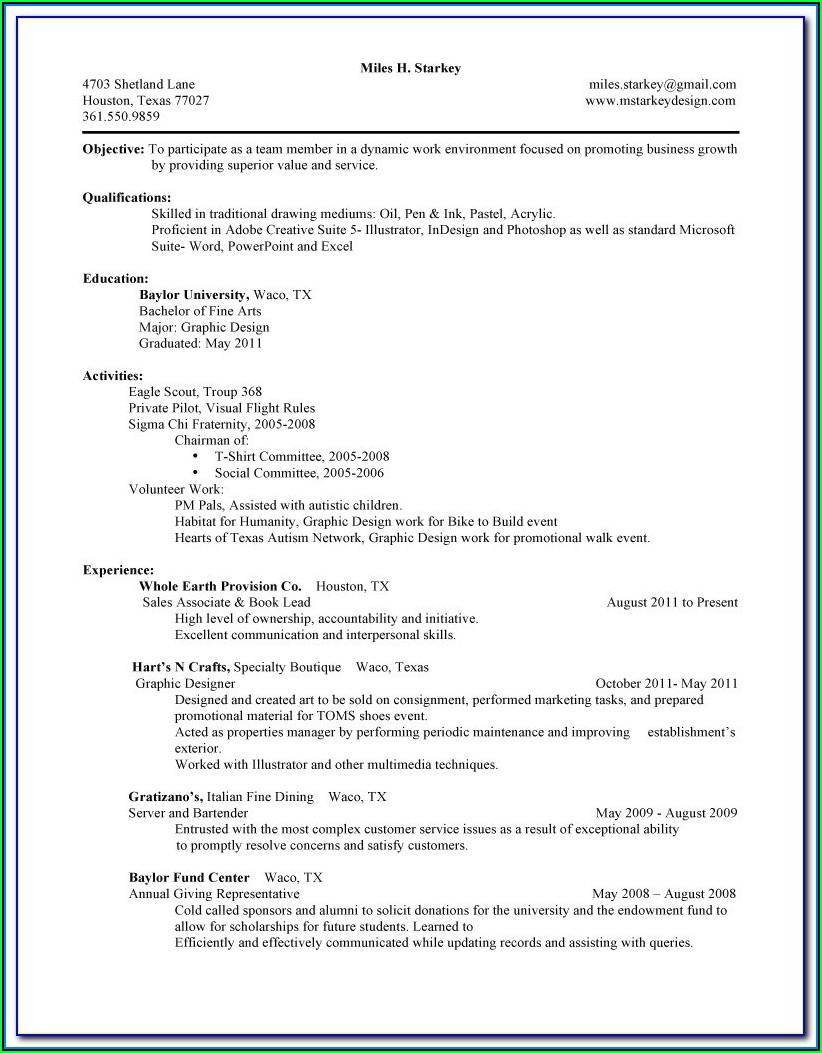 Blank Resumes Printable