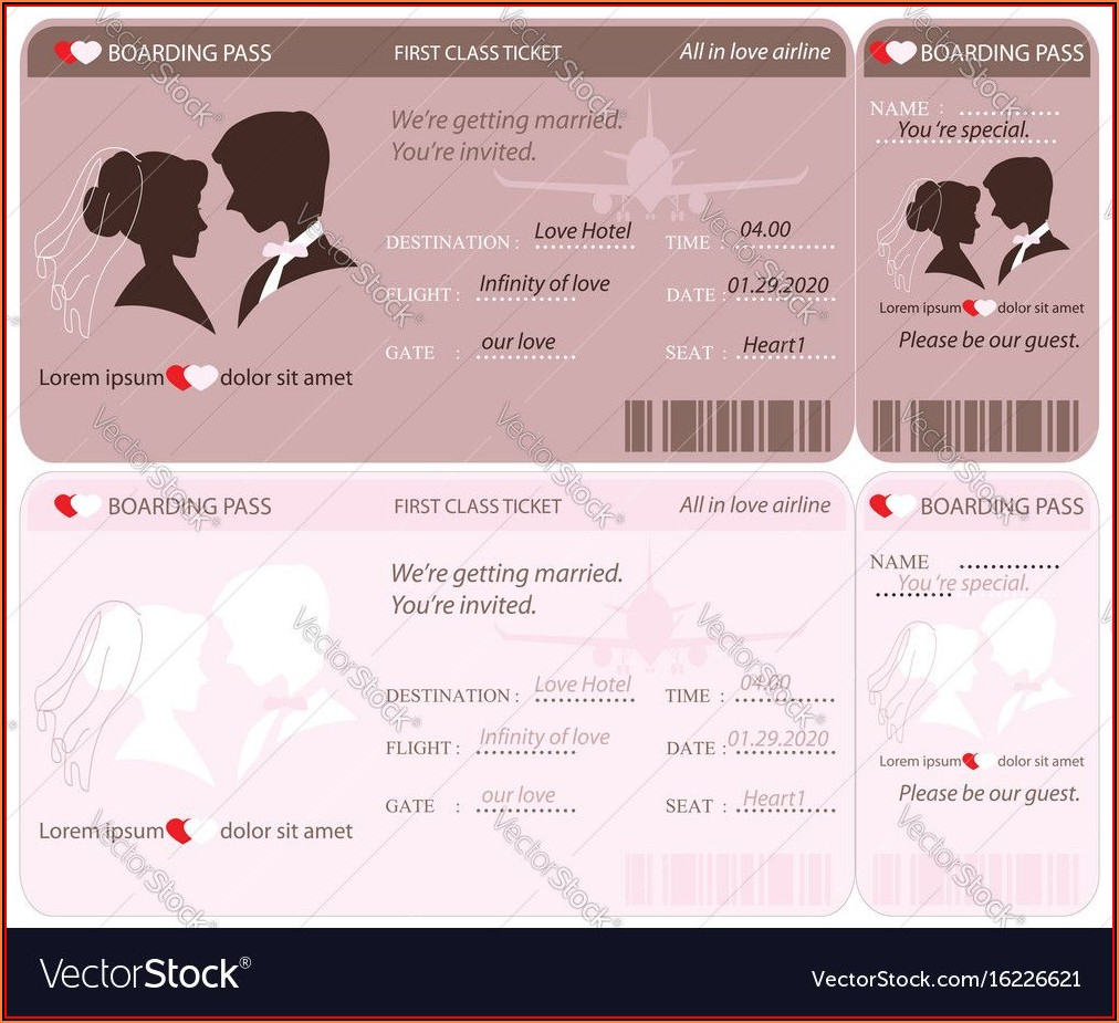 Boarding Pass Invitation Template Free Download
