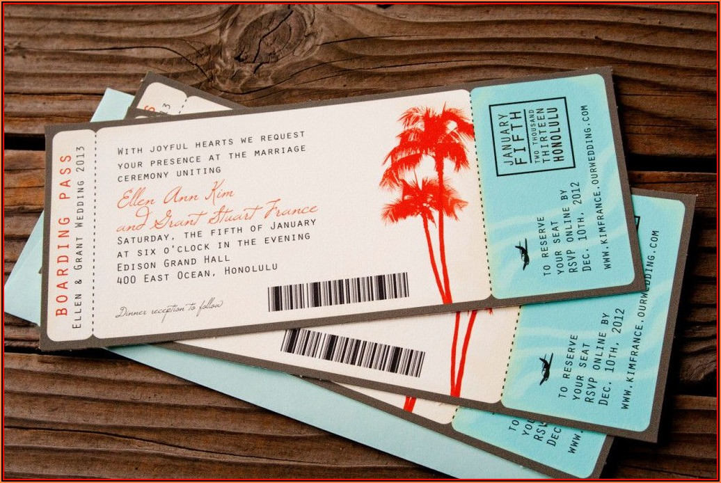 Boarding Pass Invitations Template Free