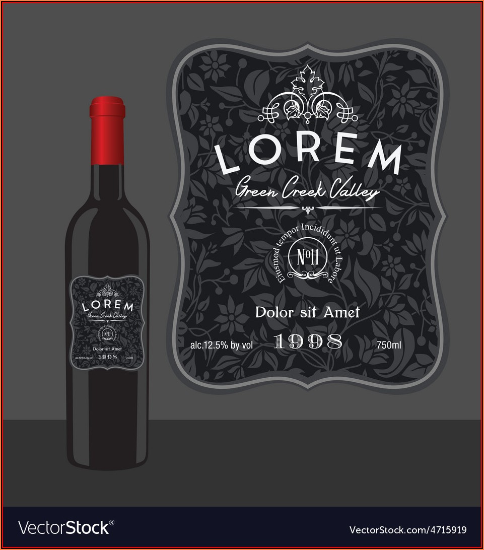 Bottle Label Template Free Vector Download
