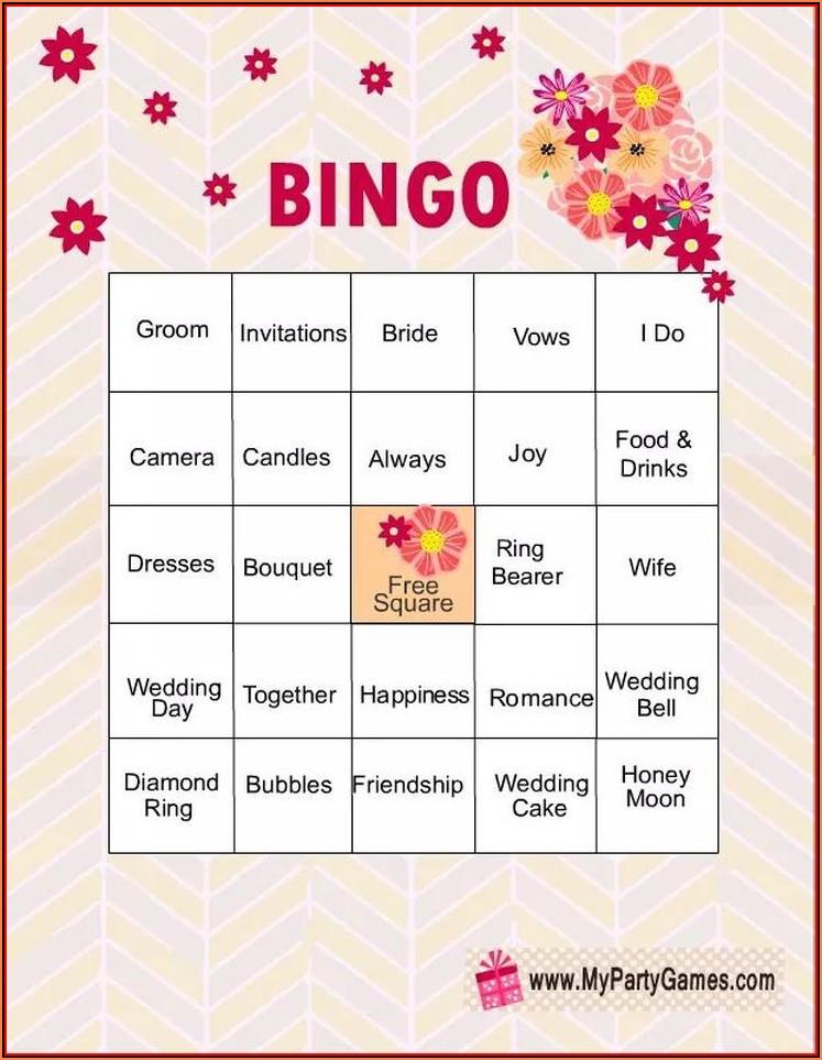 Bridal Bingo Print