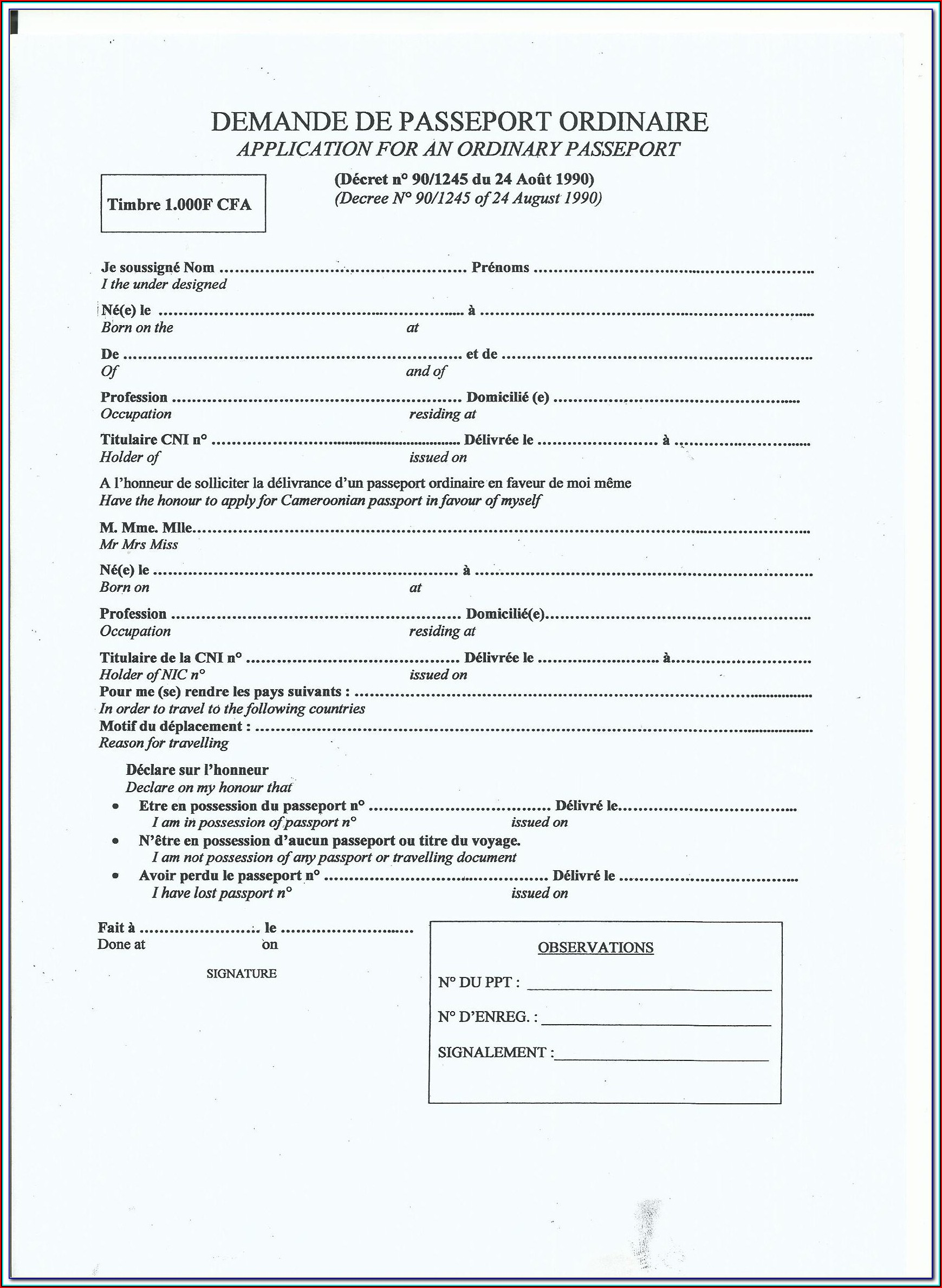 British Passport Renewal Form Download
