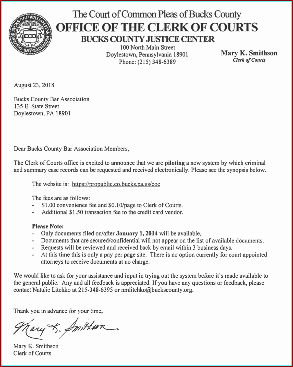 Bucks County District Court Forms