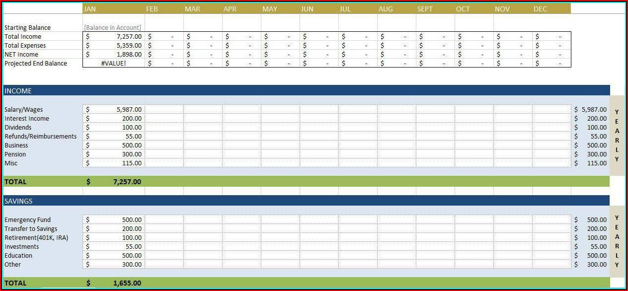 Budget Sheet Templates