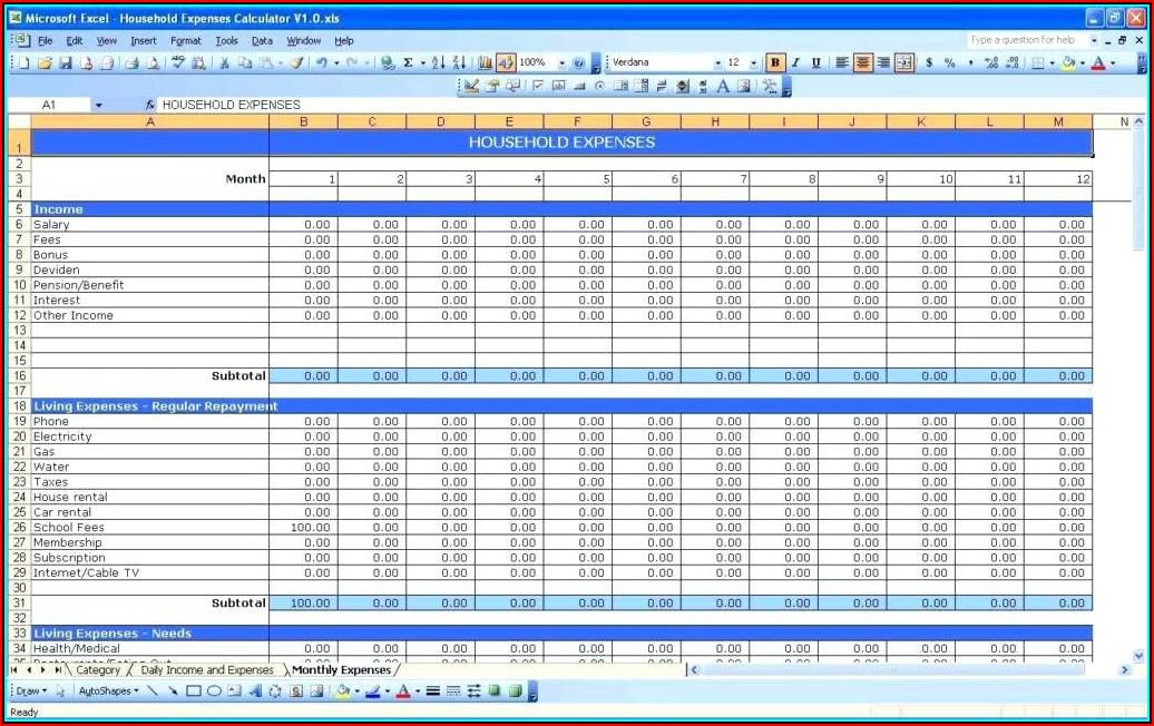 Budget Spreadsheet Templates