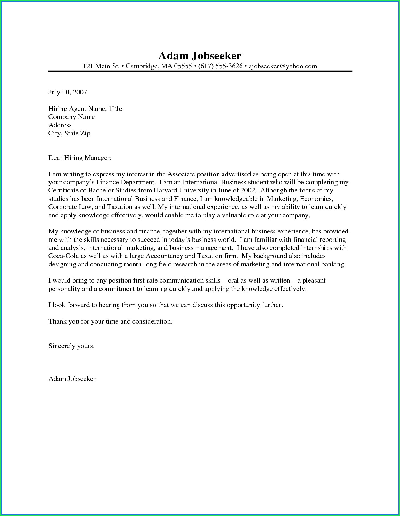 Build A Resume And Cover Letter Free
