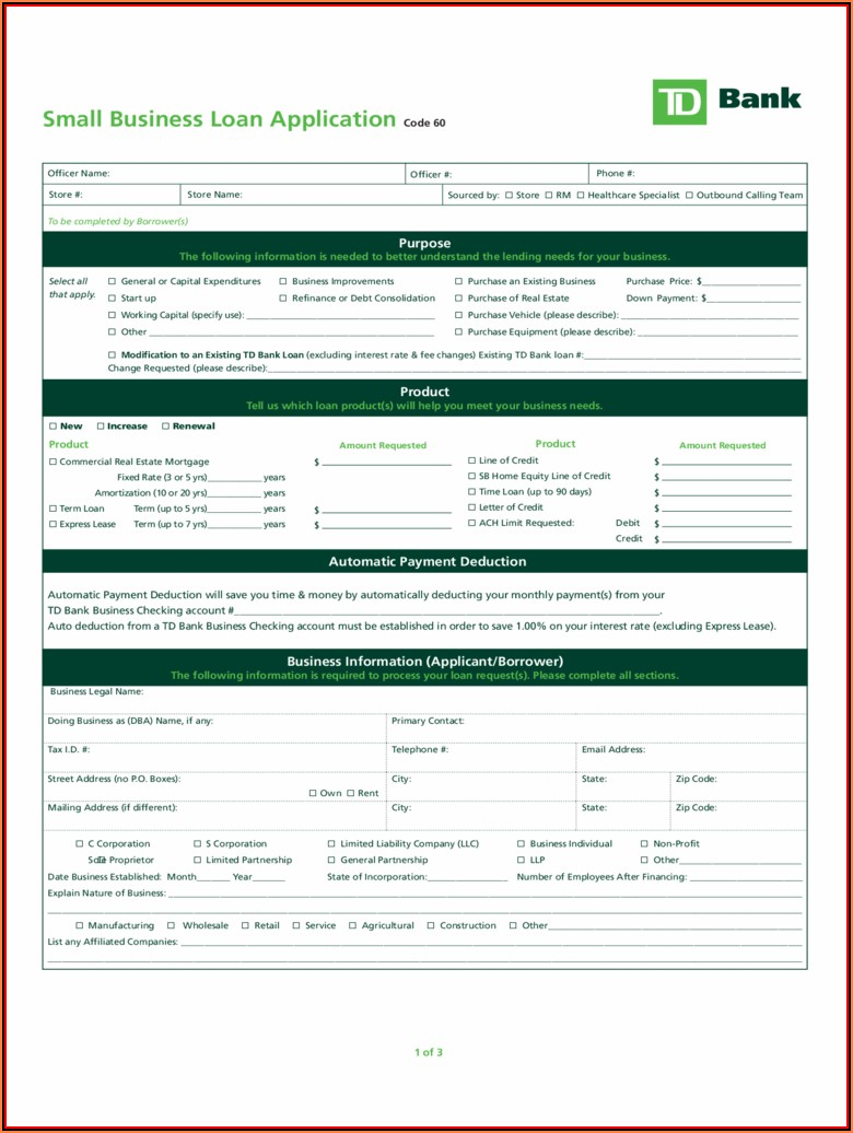 Business Credit Application Template Free