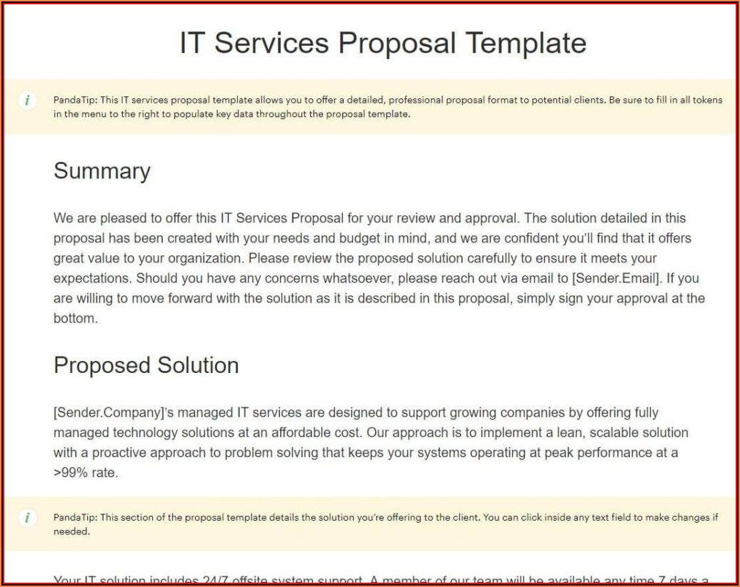 Business Proposal Template Doc Free Download