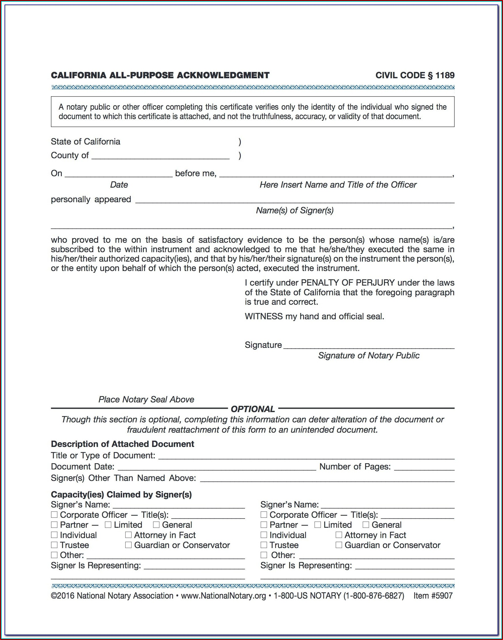 california notary forms 2019  form  resume examples