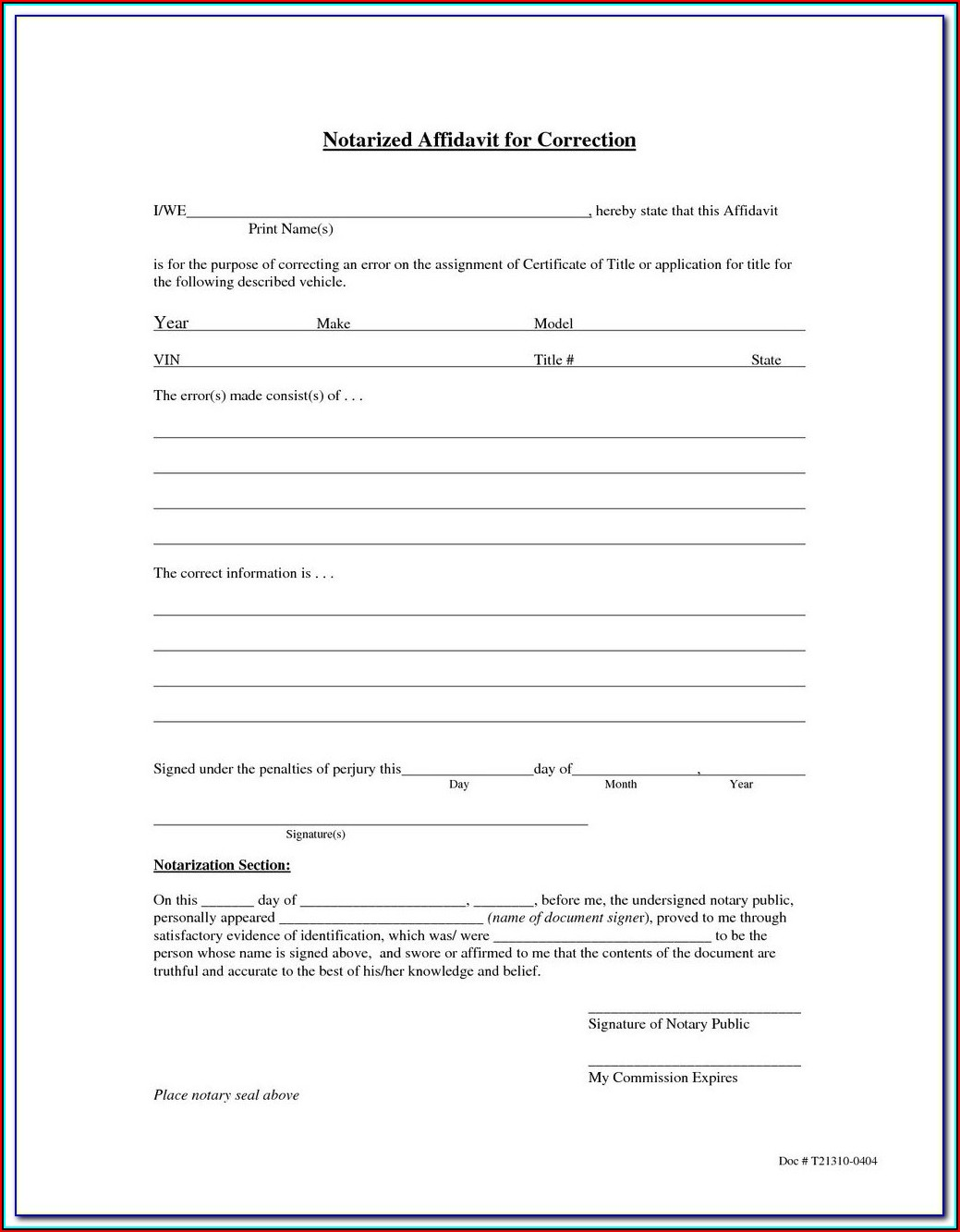 California Notary Forms Jurat
