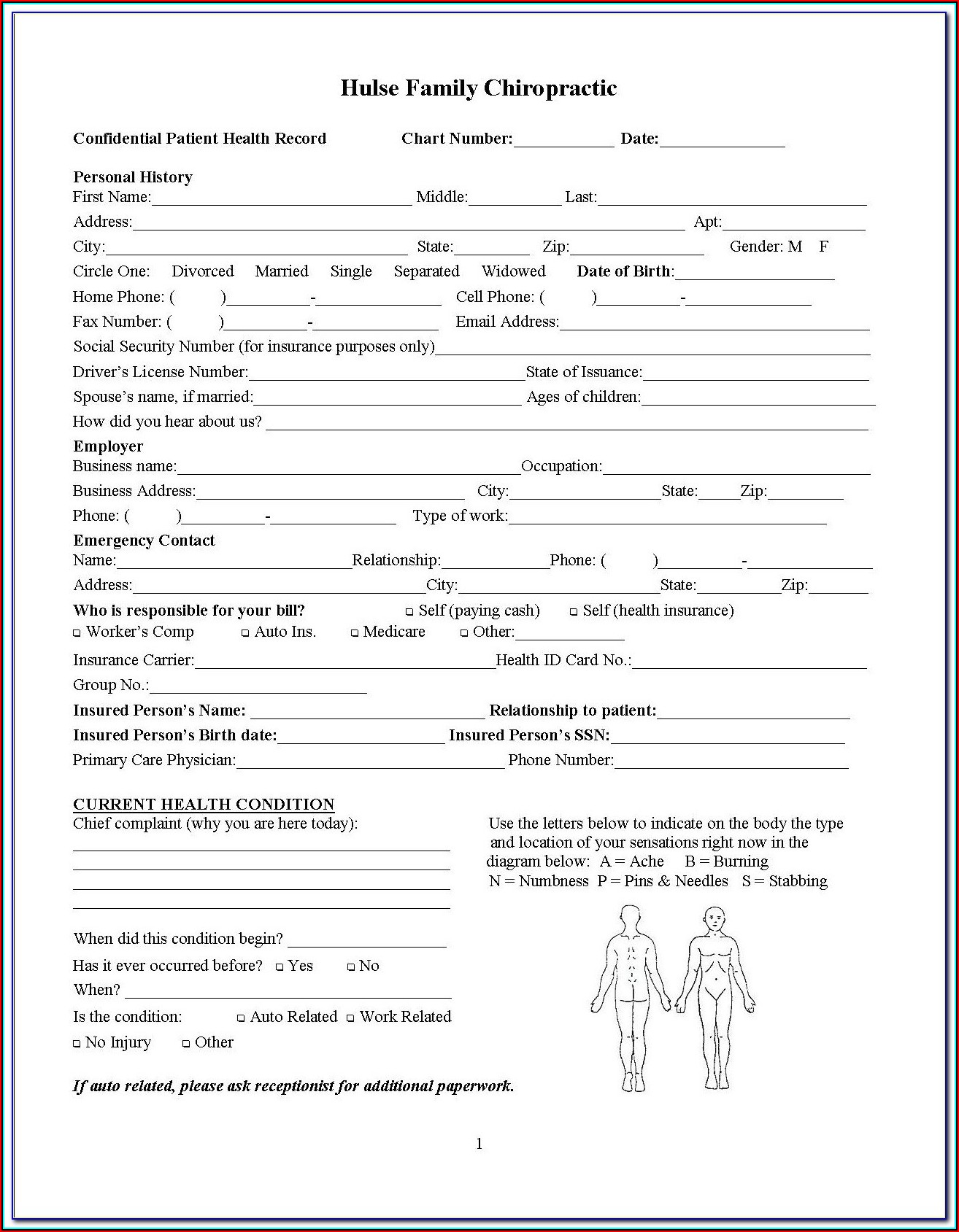Chiropractic New Patient Forms In Spanish