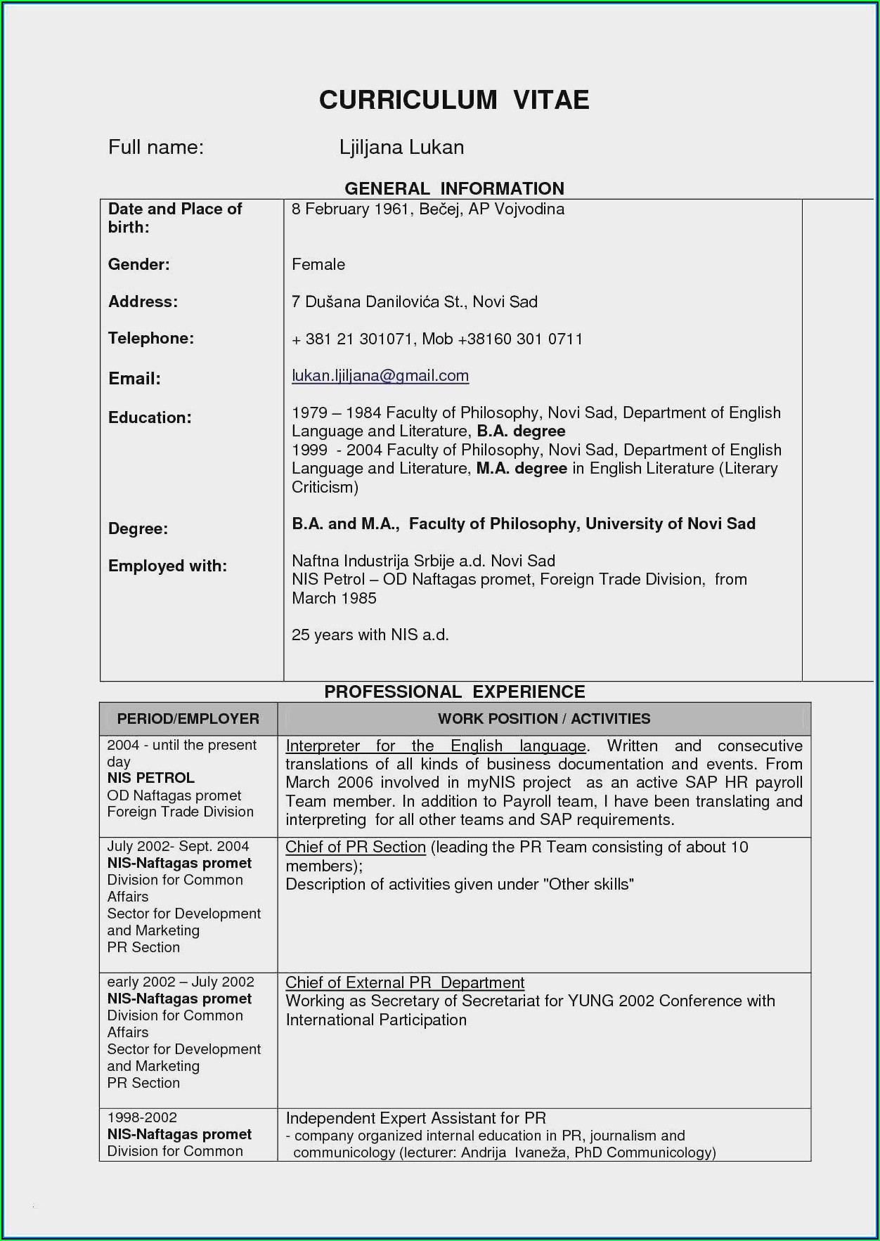 Civil Engineer Resume Format Free Download