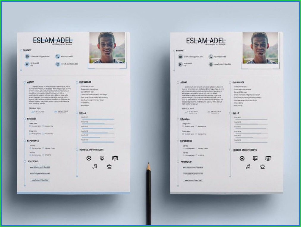 Clean Cv Resume Template Free Download
