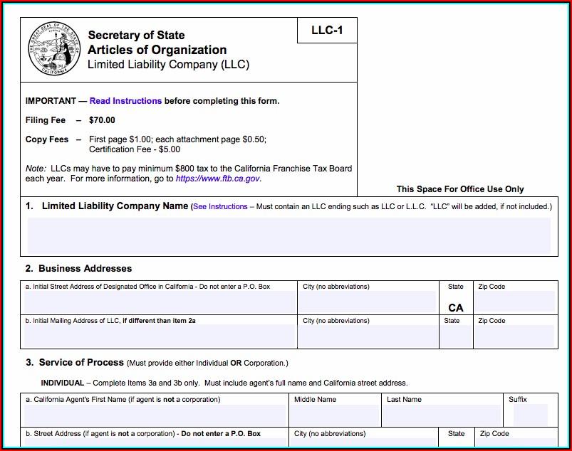 Cost Of Registering An Llc In California