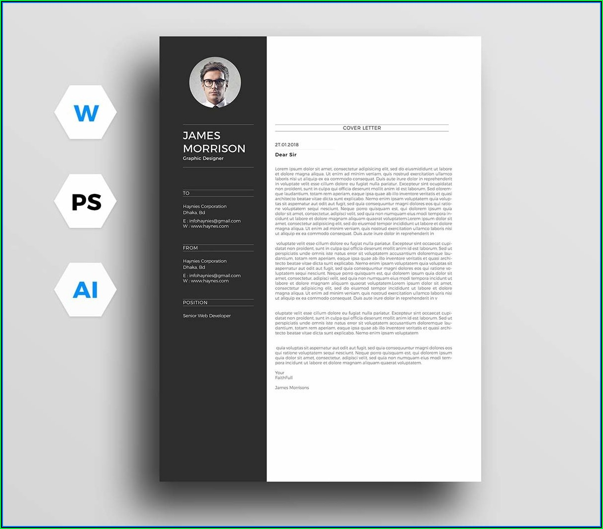 Cover Letter And Resume Templates Free