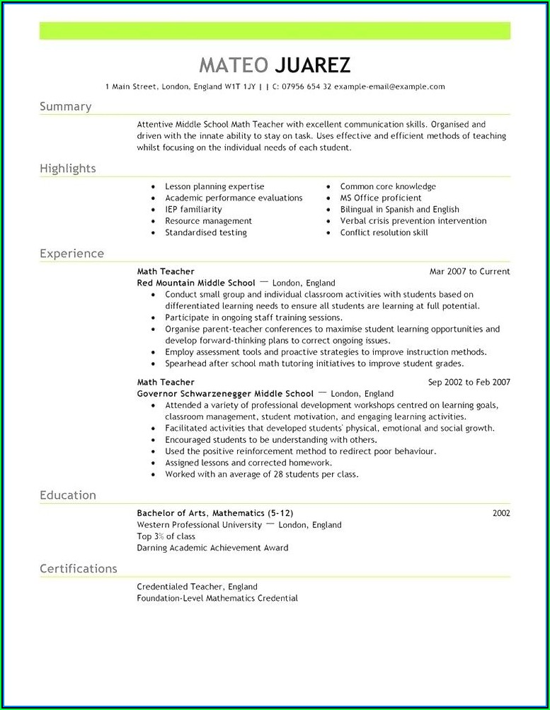 Current Resume Templates 2018 Australia