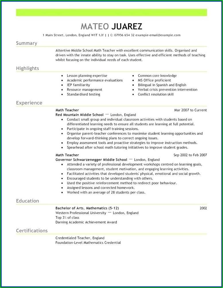 Current Resume Templates 2018 Australia