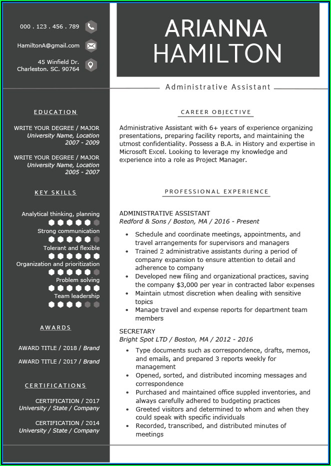 Current Resume Templates Free